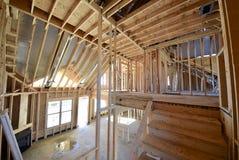 家庭建筑内部构筑在楼上观看 库存照片