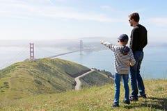 家庭在旧金山 免版税库存照片