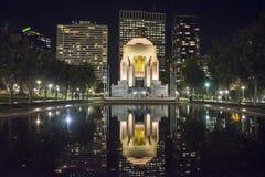 安扎克纪念品在晚上,悉尼,澳大利亚 免版税库存图片