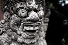 寺庙门监护人Dvarapala,巴厘岛 免版税库存图片