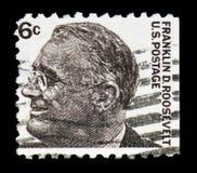 富兰克林・德拉诺・罗斯福(1882-1945),第32位总统,著名美国人serie,大约1967年 免版税库存图片