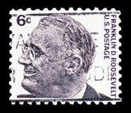 富兰克林・德拉诺・罗斯福(1882-1945),第32位总统,著名美国人serie,大约1966年 免版税库存照片