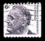 富兰克林・德拉诺・罗斯福(1882-1945),第32位总统,著名美国人serie,大约1967年 图库摄影