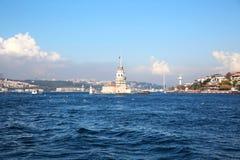 少女塔在伊斯坦布尔土耳其 库存照片
