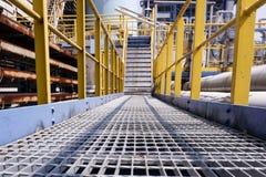 工业工厂生产过程 免版税库存照片