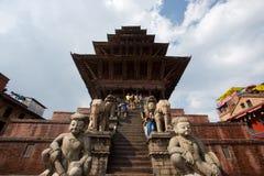 巴克塔普尔的Durbar广场在尼泊尔 免版税库存照片