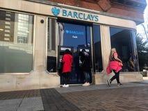 巴克莱银行,英国多民族投资银行 库存照片