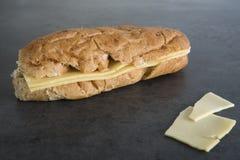 布朗小圆面包用乳酪 图库摄影