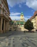 布拉索夫,斯洛伐克-老城镇厅 免版税库存图片