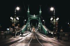 布达佩斯自由桥梁 免版税库存照片