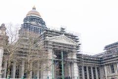 布鲁塞尔/比利时01 02 19:布鲁塞尔法院大楼正义宫殿 免版税图库摄影