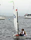 帆船在波士顿港口 库存图片