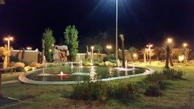 庭院在tinghir城市,摩洛哥 免版税库存照片
