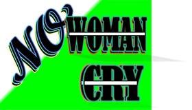 Żadny kobieta żadny płacz royalty ilustracja