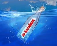 Żadny socjalizm wiadomość w butelce ilustracja wektor