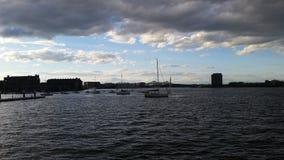 Żagiel łodzie w Boston schronieniu obrazy royalty free