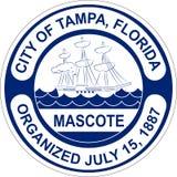 Żakiet ręki Tampa w Floryda Stany Zjednoczone ilustracja wektor