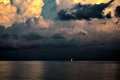 Żeglowanie łódź w Key West obraz royalty free