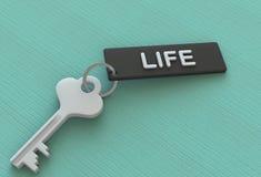 ŻYCIE, wiadomość na keyholder ilustracji