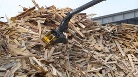 Życiorys paliwowa produkcja od bel Maszynowego ładunku drewno i miażdży mnie golenie trocinowi układy scaleni zbiory wideo