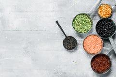 Żywność organiczna legumes różnorodni obrazy royalty free