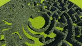 Żywopłotu labirynt w miasto parku ilustracja wektor