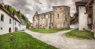 Ži�e Carthusian Monastery - panorama Stock Photo