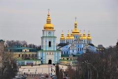 基辅,乌克兰 圣迈克尔修道院的看法  图库摄影