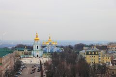 基辅,乌克兰 圣迈克尔修道院的看法  免版税库存照片