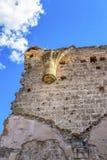 圣尼古拉斯教会的废墟在贝洛拉多,布尔戈斯,卡斯蒂利亚y利昂,西班牙,细节 库存图片