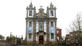圣徒伊尔德方索Igreja de Santo伊尔德方索教会是18世纪教会在波尔图,葡萄牙 库存图片