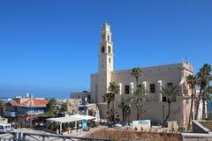 圣皮特圣徒・彼得的教会,一个方济会教会在老贾法角,特拉维夫,以色列 免版税库存图片