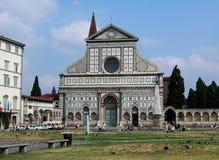 圣玛丽亚中篇小说教会在佛罗伦萨,托斯卡纳,意大利 库存图片