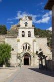 圣玛丽亚教会在贝洛拉多,布尔戈斯,卡斯蒂利亚y利昂,西班牙 库存照片