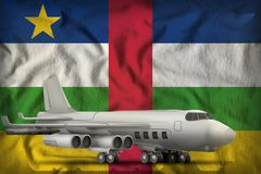 在中非共和国州旗子背景的轰炸机 3d例证 向量例证