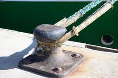 在一个安全港口停泊的船 图库摄影