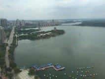 在一艘游轮在武汉,湖北,中国 免版税库存照片