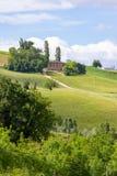 在卡梅里诺附近的房子在意大利马尔什 库存图片