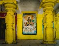 在印度hampi karnakata的一个寺庙 免版税图库摄影