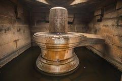 在印度hampi karnakata的Badavilinga寺庙 库存照片