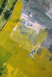 在帆布的绿色 森林横向油画河 抽象派背景 在画布的油画 颜色纹理 艺术品的片段 皇族释放例证