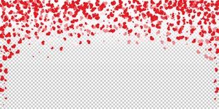 在心脏五彩纸屑形状的花瓣  皇族释放例证