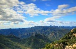 在北京北部的山  免版税库存图片