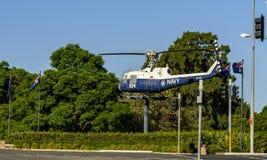 在入口的直升机显示对瑙拉 图库摄影