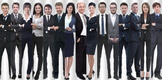 在充分的成长 小组是成功的年轻企业家 免版税库存图片