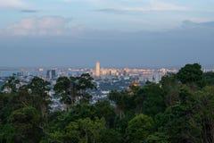 在槟榔岛桥梁的黄昏 图库摄影