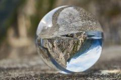 在水晶球的提契诺州风景 库存照片