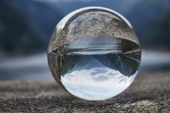 在水晶球的提契诺州风景 免版税库存图片
