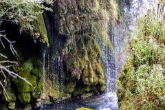 在河乌纳河的瀑布 免版税库存图片