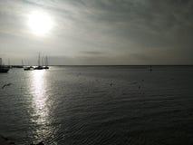 在渔港的早晨 图库摄影